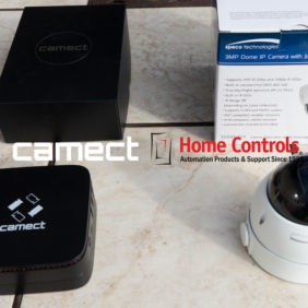 Camect Demo with Home Controls Automation Dome Camera