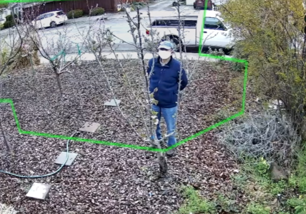 Camect person detection with a PTZ camera